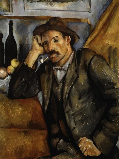 A Smoker, 1890-1892-Paul C?zanne-Giclee Print