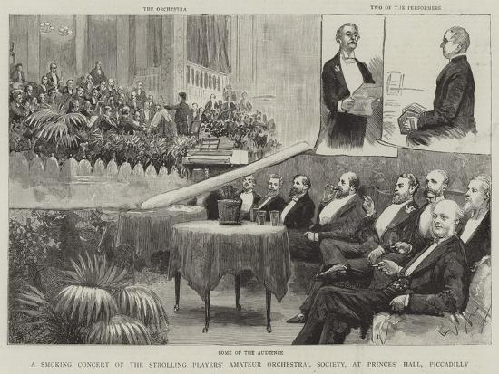A Smoking Concert of the Strolling Players' Amateur Orchestral Society--Giclee Print