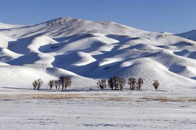 A Snow-Covered Winter Landscape in the Alborz Mountains of Iran-Babak Tafreshi-Photographic Print