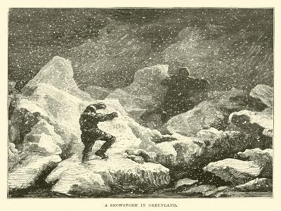 A Snowstorm in Greenland--Giclee Print