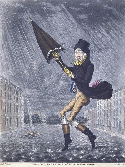 A Soaker or a Real Cat and Dog Day, 1825-G Hunt-Giclee Print