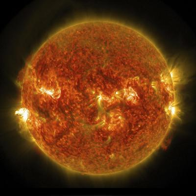 A Solar Flare Erupting on the Left Side of the Sun--Art Print