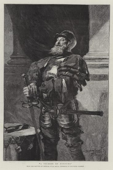 A Soldier of Fortune-John Seymour Lucas-Giclee Print