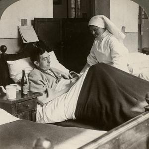 A Soldier Writing a Letter in Hospital, World War I, 1914-1918