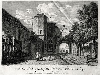 A South Prospect of the Abby-Gate at Reading, Berkshire, 1775-Michael Angelo Rooker-Giclee Print