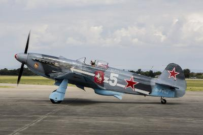 A Soviet Air Force Yak-3 Replica on the Runway-Stocktrek Images-Photographic Print
