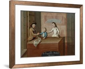 A Spaniard and a Mulatto, with their Morisco Child, 18th Century