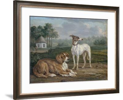 A Spaniel and a Greyhound-Jan Dasveldt-Framed Art Print
