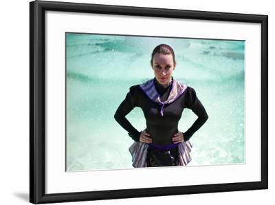 A Spanish Contortionist And Dancer In A Aragonese Jotera Style Tutu-Kike Calvo-Framed Photographic Print