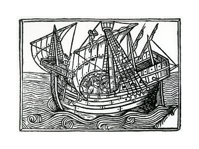 A Spanish Ship, 1496-Christopher Columbus-Giclee Print
