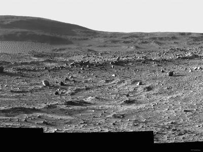 A Spectacular Field of Martian Sand Ripples and Husband Hill-Stocktrek Images-Photographic Print