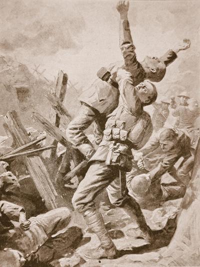 A 'Splendid Scrum' at Bazentin-Le-Petit, July 14th, 1916--Giclee Print