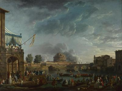 A Sporting Contest on the Tiber at Rome, 1750-Claude Joseph Vernet-Giclee Print