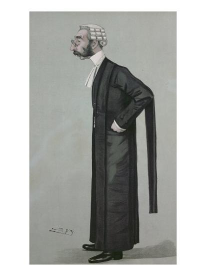 A Sporting Lawyer, form 'Vanity Fair', 17th March 1898-Leslie Mathew Ward-Giclee Print