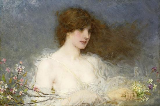 A Spring Idyll. 1901-George Henry Boughton-Giclee Print