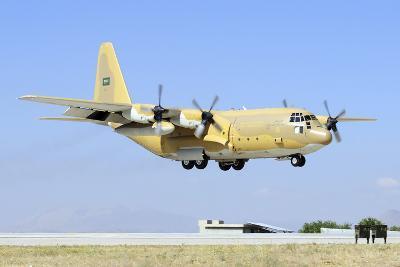 A Sroyal Saudi Air Force C-130H-30 Hercules Landing at Konya Air Base-Stocktrek Images-Photographic Print