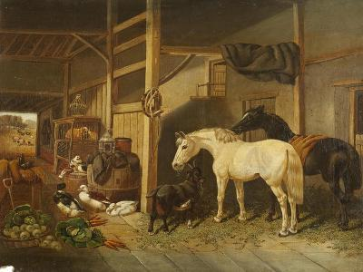 A Stable Interior-Joseph Clark-Giclee Print