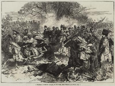 A Stampede of French Cavalry at the Fight Near Orleans, on Sunday, 4 December--Giclee Print