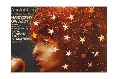 A Star Is Born, Polish Poster Art, Barbra Streisand, 1976--Giclee Print