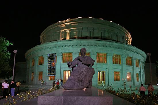 A Statue of Armenian Composer Aram Khachaturian at the Opera House Bearing His Name-Babak Tafreshi-Photographic Print