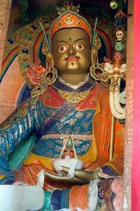A Statue of Padmasambhava in the Temple of the Hemis Monastery, Ladakh