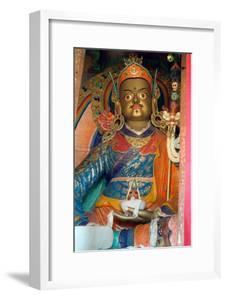A Statue of Padmasambhava in the Temple of the Hemis Monastery, Ladakh