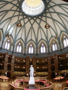 A Statue of Queen Victoria Sits in the Middle of the Newly Renovated Parliament Hill Library