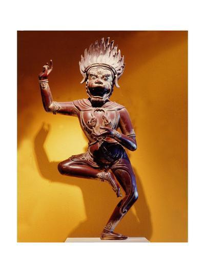 A Statue of Simhavaktra Dakini, a Lion-Faced Dakini--Giclee Print
