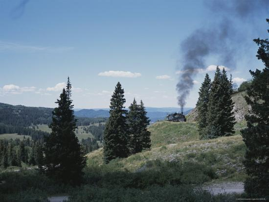 A Steam Engine Chugs into La Manga Pass in Colorado-Taylor S^ Kennedy-Photographic Print