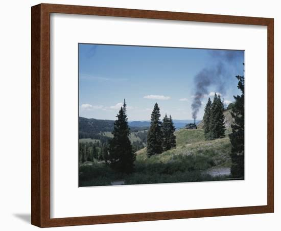 A Steam Engine Chugs into La Manga Pass in Colorado-Taylor S. Kennedy-Framed Photographic Print