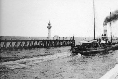 A Steamer Departing from Trouville for Le Havre, France, C1920S--Giclee Print