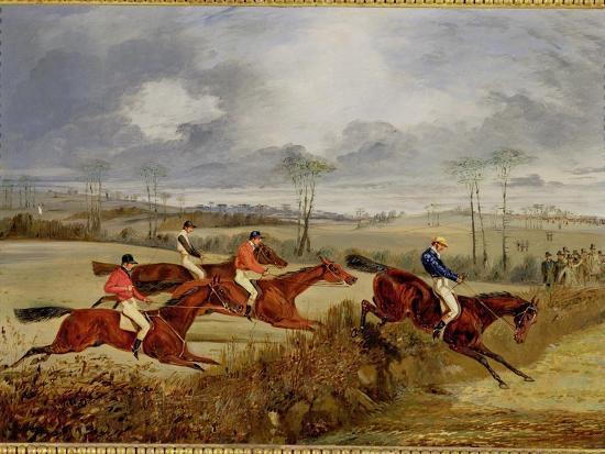 A Steeplechase, Near the Finish-Henry Thomas Alken-Giclee Print