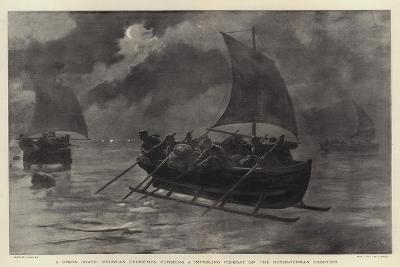 A Stern Chase, Prussian Excisemen Pursuing a Smuggling Ice-Boat on the Russo-German Frontier-Joseph Nash-Giclee Print