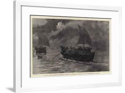 A Stern Chase, Prussian Excisemen Pursuing a Smuggling Ice-Boat on the Russo-German Frontier-Joseph Nash-Framed Giclee Print
