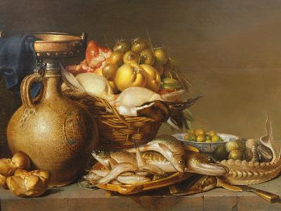 A Still Life of Fish and Other Food-Harmen van Steenwyck-Giclee Print