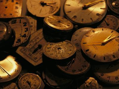 A Still Life of Old Watch Faces-Joel Sartore-Photographic Print