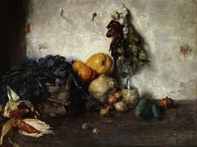 A Still-Life of Vegetables by a Wall, 1890-Albin Egger-lienz-Giclee Print