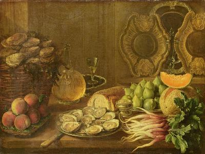 A Still Life with Oysters and Fruit-Nicholas Desportes-Giclee Print
