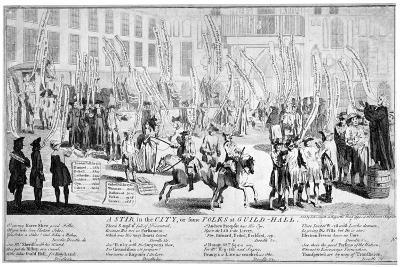 A Stir in the City, or Some Folks at Guild-Hall, 1754--Giclee Print