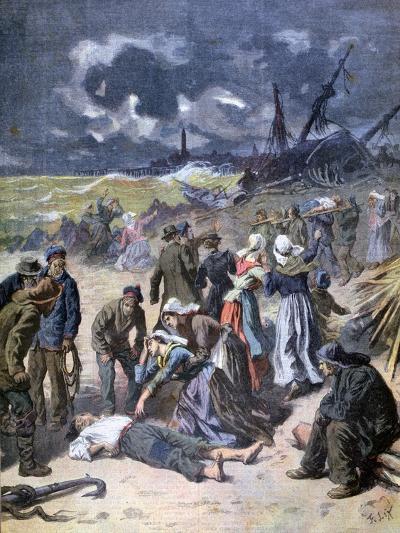 A Storm at Calais, France, 1893-Frederic Lix-Giclee Print