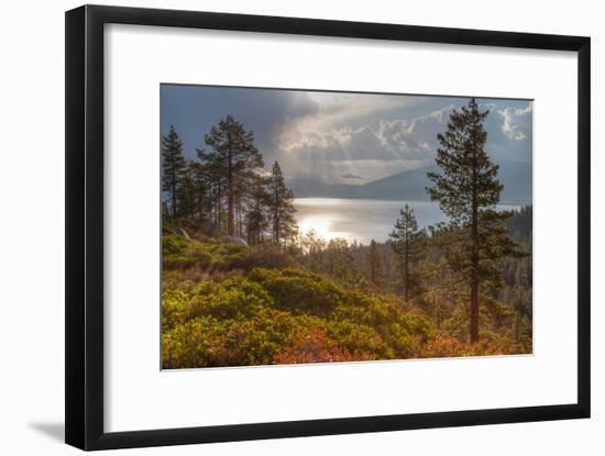 A Storm at Sunrise over Lake Tahoe, California-Greg Winston-Framed Premium Photographic Print
