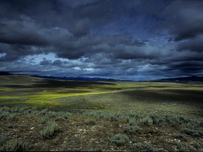 A Storm Building over the Plains of Southern Colorado-David Edwards-Photographic Print