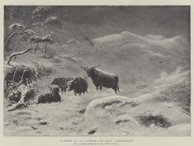 A Storm on Ben Lawers-John Isaac Richardson-Giclee Print