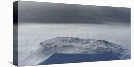A storm over Hofsjokull glacier.-Raul Touzon-Stretched Canvas Print