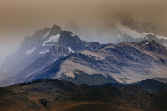 A Storm Over The Peaks Near Mount Fitz Roy In Los Glacieres National Park, Argentina-Jay Goodrich-Photographic Print