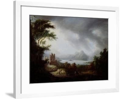A Stormy Highland Scene-Alexander Nasmyth-Framed Giclee Print