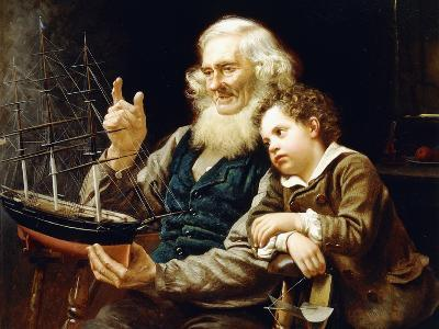 A Story of the Sea, 1883-John George Brown-Giclee Print