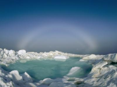 A Strange Halo Appears on the Horizon of the Icy Arctic Environment-Norbert Rosing-Photographic Print