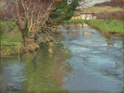 A Stream in Spring-Fritz Thaulow-Giclee Print