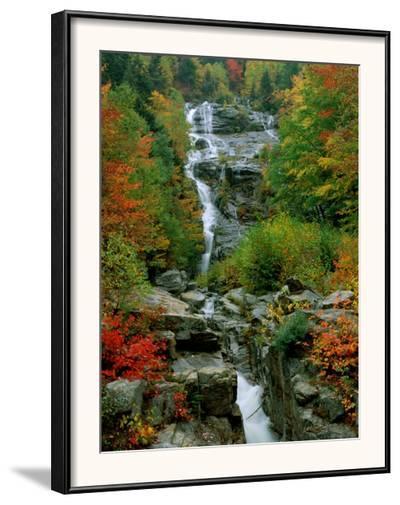 A Stream Runs Swiftly over Rocks-Medford Taylor-Framed Photographic Print